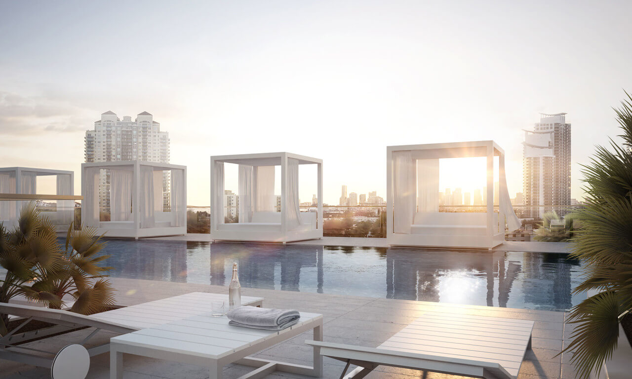 300 Collins Miami Beach Roof Deck and Pool