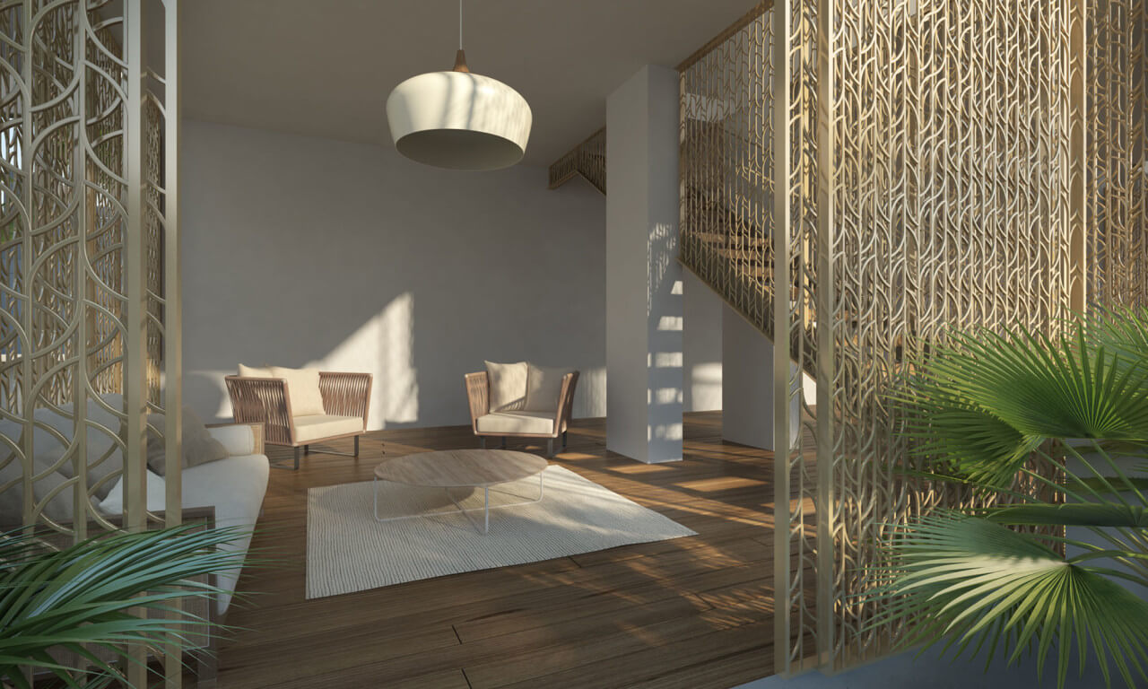 300 Collins Miami Beach Living Room
