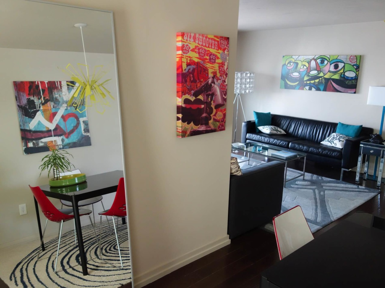 3 Different Street Art Canvases In My Miami Beach Condo
