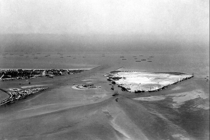 Government Cut, Fisher Island, and Terminal Island in a rare photo from 1915