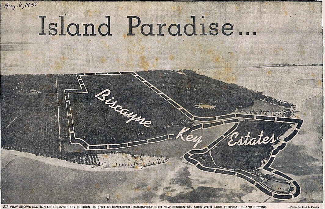 Key Biscayne in 1950