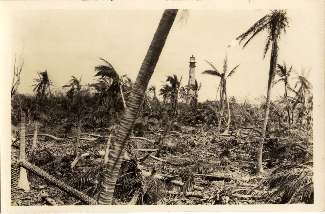 Cape Florida after the 1926 hurricane