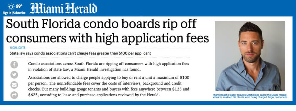 Miami Condo Associations Are Charging Illegal Application Fees