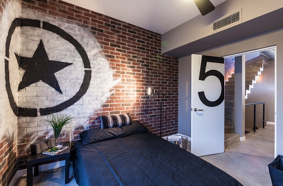 Have you ever considered using street art in interior design Painting graffiti on bedroom walls